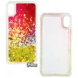 Чехол для iPhone X, iPhone XS, Stardust, силикон+пластик, с блестками, Green