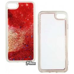 Чехол для iPhone 7, iPhone 8, Stardust, силикон+пластик, с блестками