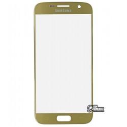 Стекло корпуса для Samsung G930F Galaxy S7, original (PRC), 2.5D, золотистое