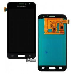 Дисплей для Samsung J120H Galaxy J1 (2016), черный, с сенсорным экраном (дисплейный модуль), (OLED), High Copy