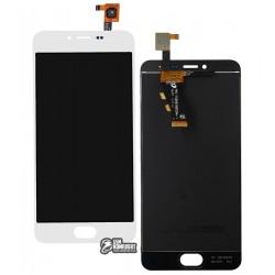 Дисплей для Meizu M3, M3 Mini, белый, с сенсорным экраном (дисплейный модуль), Original (PRC)