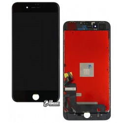 Дисплей iPhone 8 Plus, черный, с сенсорным экраном (дисплейный модуль), high-copy