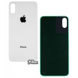 Задняя панель корпуса для Apple iPhone X, белая, Original (PRC)