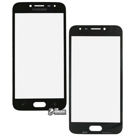 Стекло корпуса для Samsung J250F Galaxy J2 (2018), черное