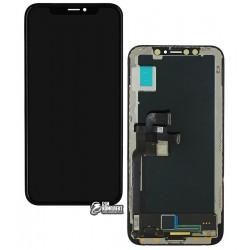 Дисплей iPhone X, черный, с сенсорным экраном (дисплейный модуль), (OLED), High Copy