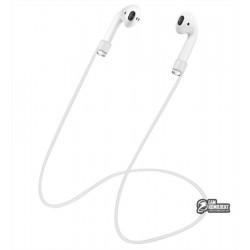 Ремешок Anti Lost для Apple airpods силиконовый, белый