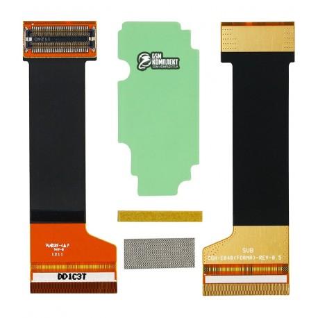 Шлейф для Samsung E840, E840B, E848, оригинал, межплатный, с компонентами, (GH97-07677A)