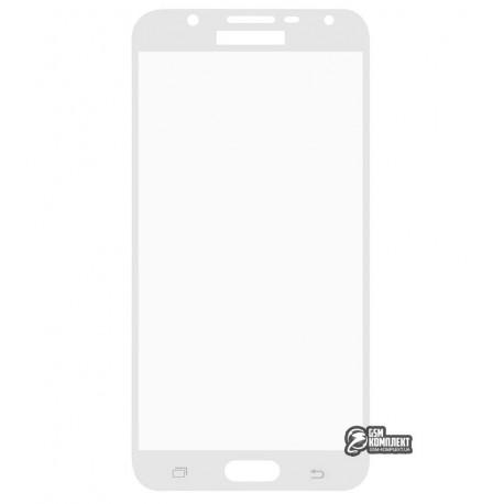 Загартоване захисне скло для Samsung G610F Galaxy J7 Prime, 0,26 mm 9H, біле
