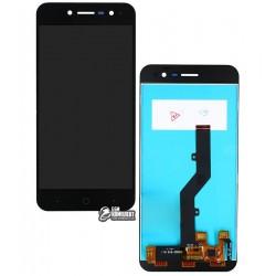 Дисплей для ZTE Blade A520, черный, с сенсорным экраном (дисплейный модуль)