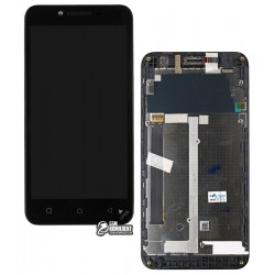 Дисплей для Lenovo A2020 Vibe C, черный, с сенсорным экраном (дисплейный модуль), с передней панелью