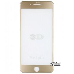 Закаленное защитное стекло 4D Glass для Apple iPhone 7 Plus / 8 Plus, 3D, 0,3 мм 9H, золотое