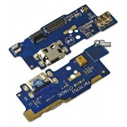 Шлейф для Meizu M5c, коннектора зарядки, с микрофоном