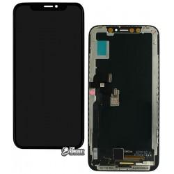 Дисплей iPhone X, черный, с сенсорным экраном (дисплейный модуль), (TFT), Сopy