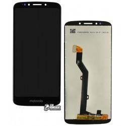 Дисплей для Motorola XT1944 Moto E5, черный, с сенсорным экраном, Original (PRC)