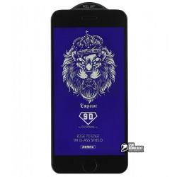 Закаленное защитное стекло для Apple iPhone 7 / 8, Remax Emperor Series 9D Anti Blue-ray GL-34, 3D, 0,3 мм 9H, черное