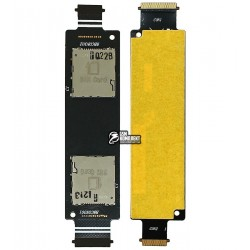 Коннектор SIM-карты для Asus ZenFone 5 (A500KL), на две SIM-карты, с шлейфом