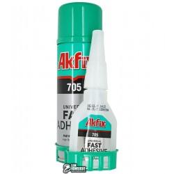 Akfix 705, гелиевый клей с активатором(50г + 200г)