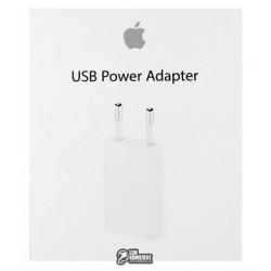 Сетевое зарядное устройство Apple 5W USB Power Adapter (high-copy) (MD813)