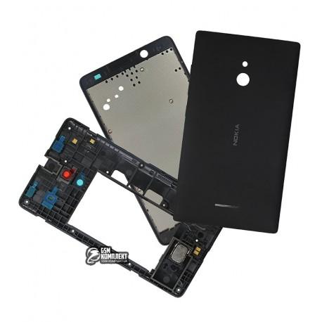 Корпус для Nokia XL Dual Sim, черный