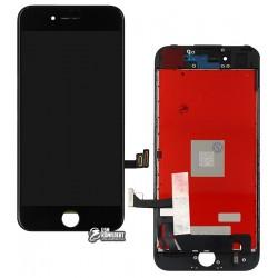 Дисплей iPhone 7, черный, с сенсорным экраном (дисплейный модуль), с рамкой, High Copy