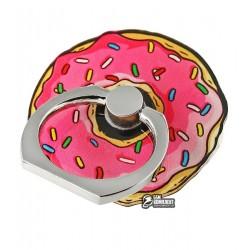 Кольцо держатель My Style, розовый пончик