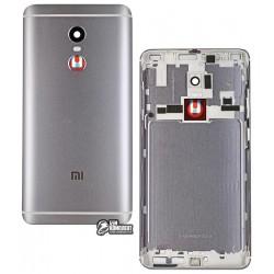 Задняя крышка батареи для Xiaomi Redmi Note 4, Redmi Note 4X, серый, оригинал (PRC), с боковыми кнопками, MediaTek