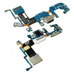 Шлейф для Samsung G955F Galaxy S8 Plus, коннектора зарядки, с микрофоном