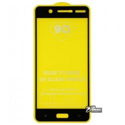 Закаленное защитное стекло для Nokia 5 Dual Sim, 0,25 мм, 2.5D, 9H, Full Glue, черное