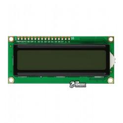 ЖК дисплей LCD1602A, серый фон с подсветкой