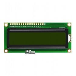 ЖК дисплей LCD1602A, желто-зеленый фон с подсветкой
