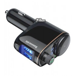 FM-трансмиттер BASEUS Locomotive Bluetooth MP3 (2USB, 2.4A+1A)