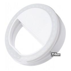 LED кольцо для селфи, Selfie Ring Light RK-12 (white)