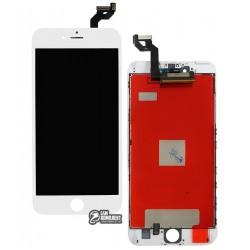 Дисплей iPhone 6S Plus, белый, с рамкой, с сенсорным экраном (дисплейный модуль), copy