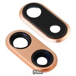Стекло камеры для Apple iPhone 8 Plus, золотистое