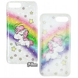 Чехол для iPhone 7 Plus, iPhone 8 Plus, Blood of Jelly Cute case, силикон (unicorn rainbow)