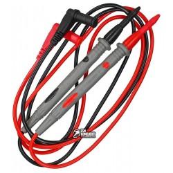 Шнуры к тестеру с серыми тонкими щупами, 20А, 4мм, силиконовый кабель