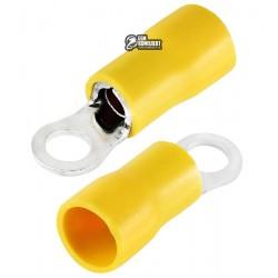 Наконечник кольцевой изолированный RVS5.5-4, 4-6мм2, Ø4,3мм, жёлтый, 10шт