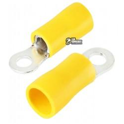 Наконечник кольцевой изолированный RV5.5-3.5, 4-6мм2, ?3,7мм, жёлтый, 10шт