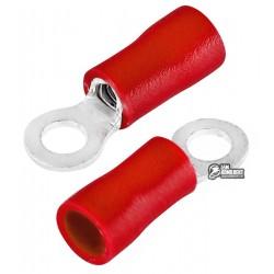 Наконечник кольцевой изолированный RVL1.25-3.5, 0,5-1,5мм2, ?3,7мм, красный, 10шт