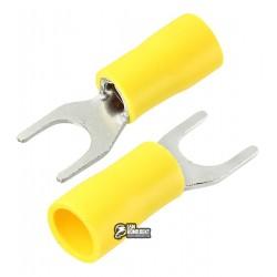 Наконечник вилочный изолированный SVS5.5-6, 4-6мм2, Ø6,5мм, жёлтые, 10шт