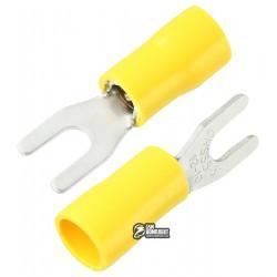 Наконечник вилочный изолированный SV5.5-3.5, 4-6мм2, ?3,7мм, жёлтые, 10шт
