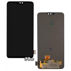 Дисплей для OnePlus 6, черный, с сенсорным экраном, Original (PRC)