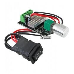 Регулятор оборотов двигателя постоянного тока PWMDC3 с переключателем, Ucc=6-28V Imax=3A