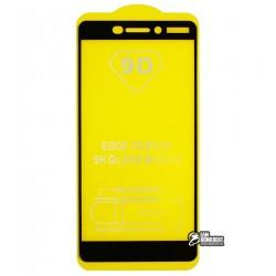 Закаленное защитное стекло для Nokia 6.1 Dual Sim, 0,25 мм, 2.5D, 9H, Full Glue, черное