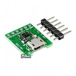 Преобразователь USB-TTL на CH340E(HW-728), разъем microUSB