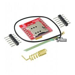 Модуль GSM/GPRS SIM800L, антенна с проводом