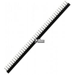 Разъем штыревой мама, шаг 2.54мм однорядный прямой 40 pin, круглый контакт