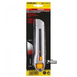 Нож канцелярский Sigma металлический 18мм, винтовой замок