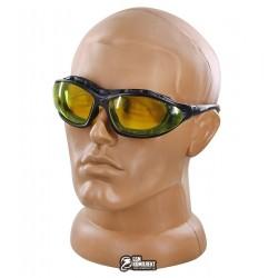 Очки защитные Sigma Super Zoom желтые, с обтюатором и сменными дужками, anti-fog, anti-scratch