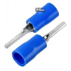 Наконечник круглая игла в изоляции PTV2-13, 1,5-2,5мм2, L-13мм, синий, 10шт